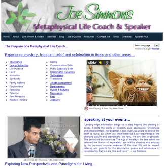 Joe Simmons - Metaphysical Life Coach